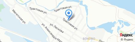 Ленинское такси на карте Иркутска