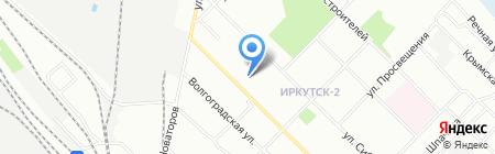 Музяка на карте Иркутска