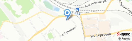Юбас на карте Иркутска