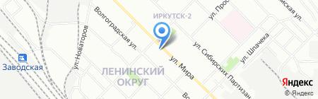 Нотариус Наманюк Г.В. на карте Иркутска
