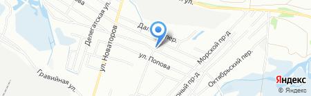 Автомеридиан на карте Иркутска