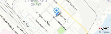 Байкал-Сиб на карте Иркутска