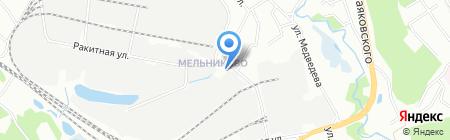 Авенир на карте Иркутска