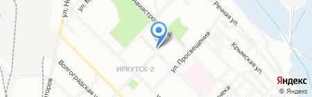 Акцент на карте Иркутска