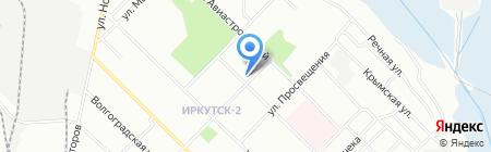 Гном на карте Иркутска