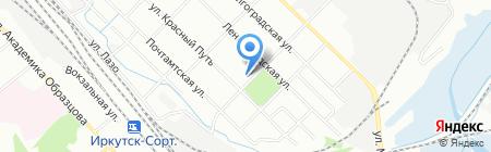 Инфокар на карте Иркутска