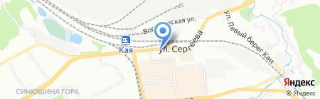 Браун на карте Иркутска