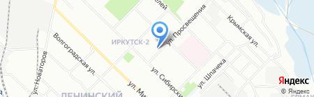 Средняя общеобразовательная школа №12 на карте Иркутска