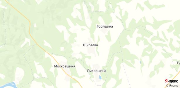 Ширяева на карте