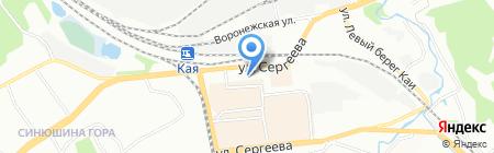 Империя вакансий на карте Иркутска