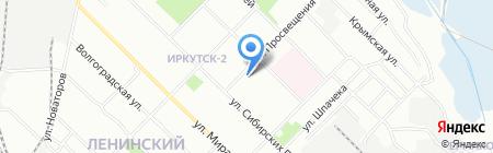 Детский сад №34 на карте Иркутска