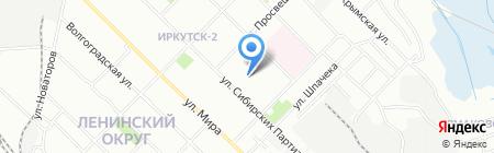 Детская музыкальная школа №1 на карте Иркутска