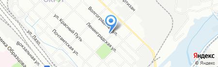 АКВА краска на карте Иркутска