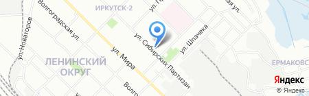 Фруктовый на карте Иркутска