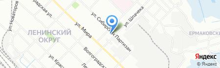 Светлячок на карте Иркутска