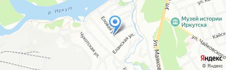 Еловка на карте Иркутска
