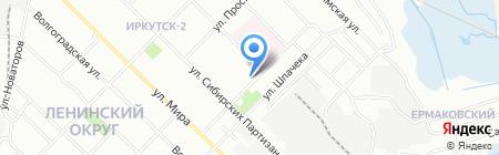 Галатея на карте Иркутска