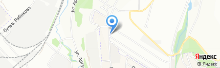 Зелёная горка на карте Иркутска