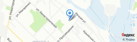 Зенит на карте Иркутска