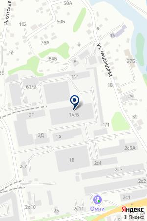 Созвездие Морей на карте Иркутска