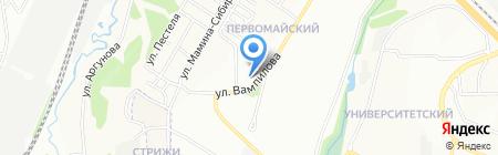 Бананза на карте Иркутска