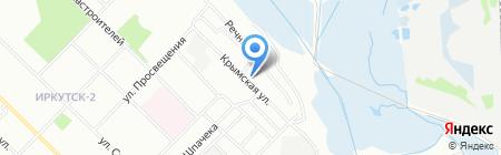 Кассиопея на карте Иркутска