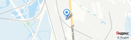 Каравай на карте Иркутска