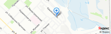 Сытый Баринъ на карте Иркутска