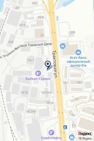 Альфа на карте Иркутска