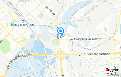 Местоположение на карте пункта техосмотра по адресу г Иркутск, ул Генерала Доватора, д 41