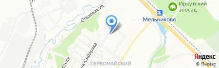Семь звезд на карте Иркутска