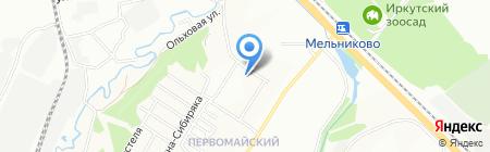 Алмазный на карте Иркутска