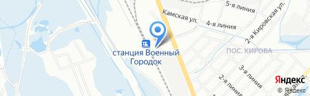 Аверма на карте Иркутска