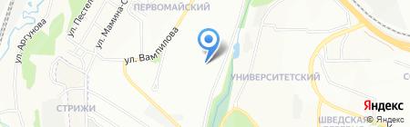 Средняя общеобразовательная школа №35 на карте Иркутска