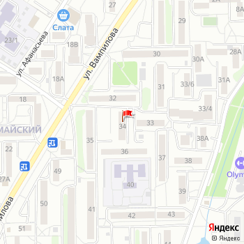 г. Иркутск, ул. Первомайский микрорайон,34 на карта