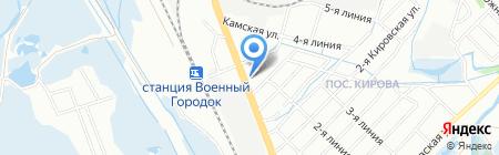 Баджер на карте Иркутска