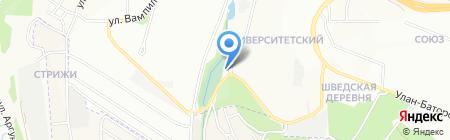Омега-Авто на карте Иркутска