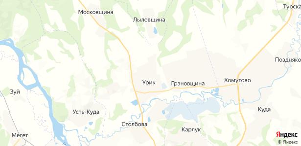 Урик на карте