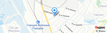 Лазарев Ю.А. на карте Иркутска