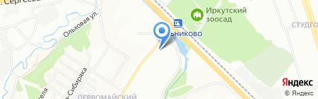 Электрик на карте Иркутска