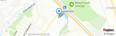 Исток на карте Иркутска