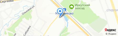 Стефания на карте Иркутска