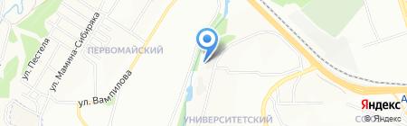 Ариг Ус на карте Иркутска