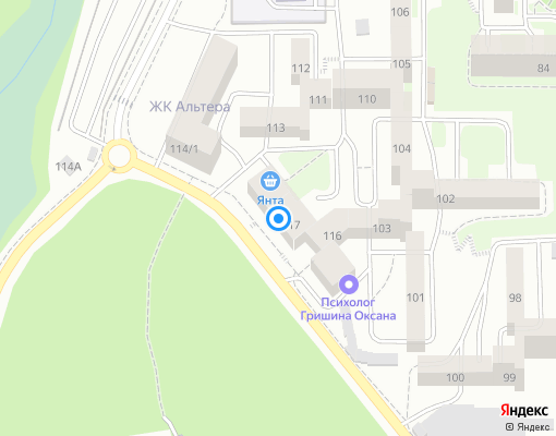 Управляющая компания «Прибайкальская» на карте Иркутска