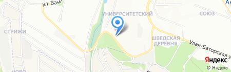 Котофей на карте Иркутска