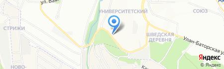 Дворянское гнездо на карте Иркутска