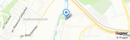 Автогаражный кооператив №223 на карте Иркутска