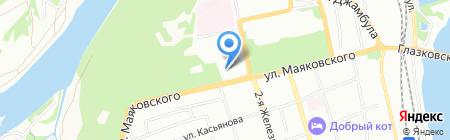 Единоборец на карте Иркутска