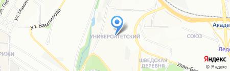Лика на карте Иркутска