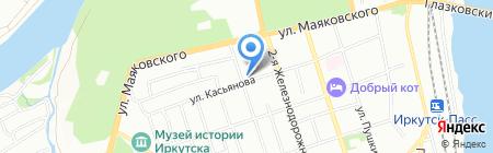 РТС на карте Иркутска